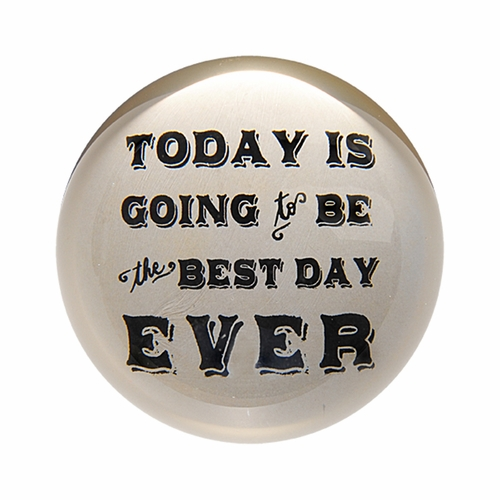 Today Is Going To Be The Best Day Ever Paper Weight (Set of 2) by Sugarboo Designs
