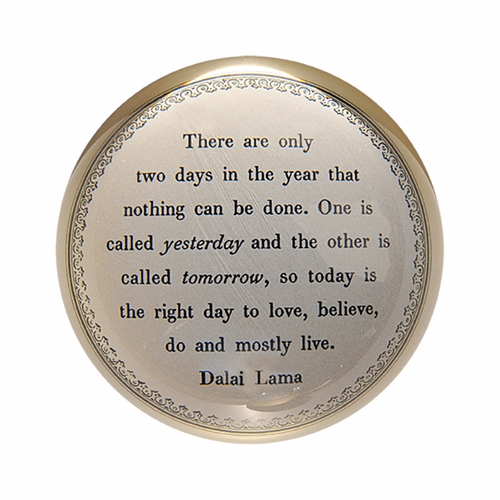 Today Is The Right Day - Dalai Lama Paper Weight (Set of 2) by Sugarboo Designs