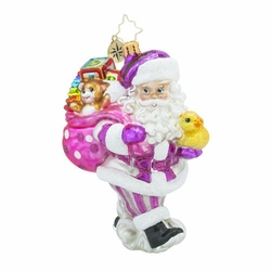 Toyland Deliveries Girl Ornament by Christopher Radko