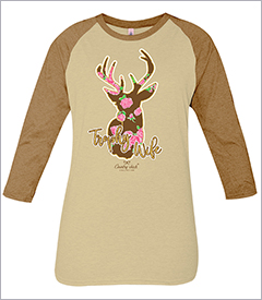Trophy Wife Oatmeal & Camel Country Chick Long Sleeve Teeby Simply Southern