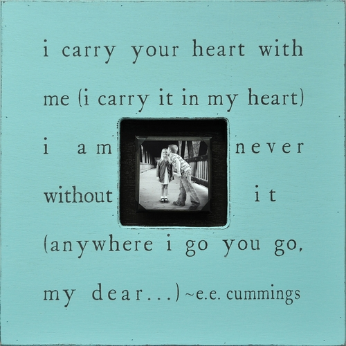 Turquoise I Carry Your Heart Photobox by Sugarboo Designs
