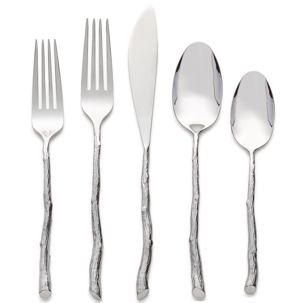 Twig 5 piece flatware set by michael aram - Flatware set with stand ...