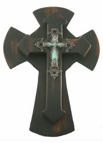 Two Layer Turquoise Cross