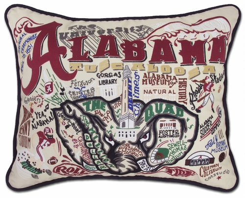 University of Alabama XL Embroidered Pillow by Catstudio (Special Order)