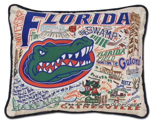 University of Florida XL Embroidered Pillow by Catstudio (Special Order)
