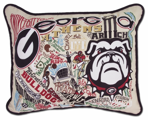 University of Georgia XL Embroidered Pillow by Catstudio (Special Order)