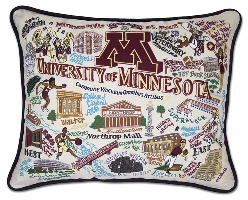 University of Minnesota XL Embroidered Pillow by Catstudio (Special Order)
