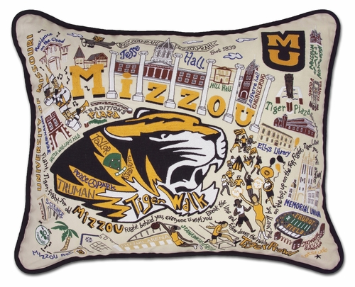 University of Missouri - Mizzou XL Embroidered Pillow by Catstudio (Special Order)