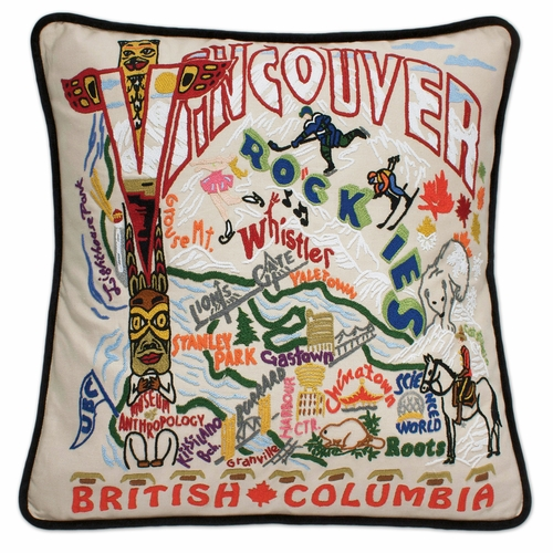 Vancouver XL Hand-Embroidered Pillow by Catstudio (Special Order)