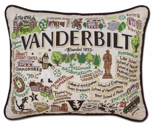 Vanderbilt University XL Embroidered Pillow by Catstudio (Special Order)