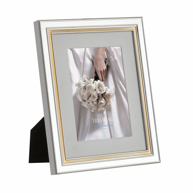 Vera Wang Chime Gold 5x7 Frame By Wedgwood