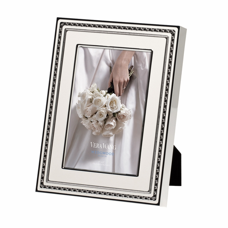 Vera Wang With Love Blanc 4x6 Frame by Wedgwood