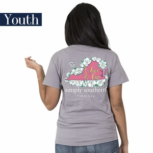 Virginia I Love it Here Short Sleeve Tee - YOUTH by Simply Southern