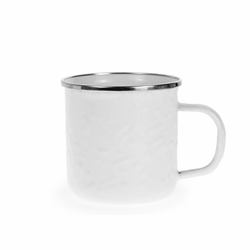 White 12 oz. Mug by Golden Rabbit