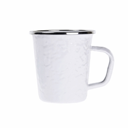 White 16 oz. Latte Mug by Golden Rabbit