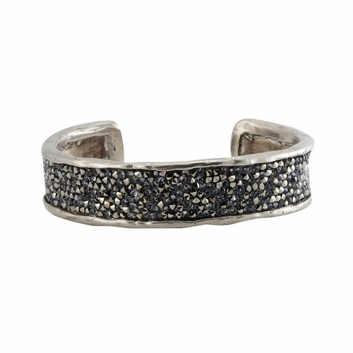White Bronze Kristal Cuff Bracelet by Waxing Poetic (Special Order)