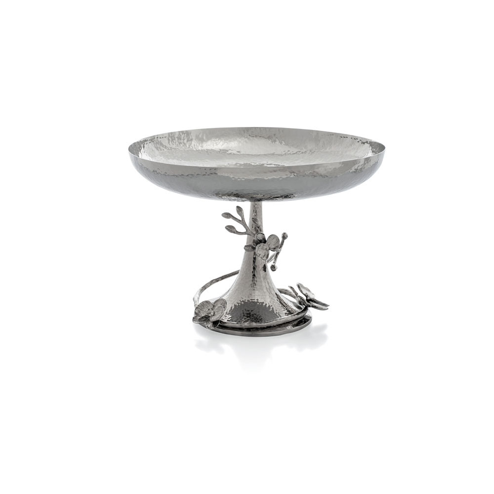 White orchid footed centerpiece bowl by michael aram
