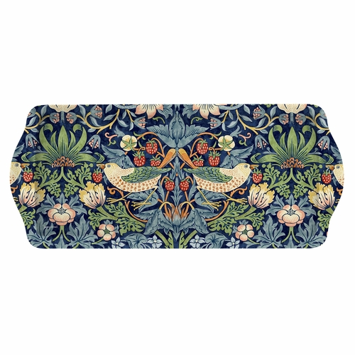 William Morris Strawberry Thief Blue Sandwich Tray by Pimpernel