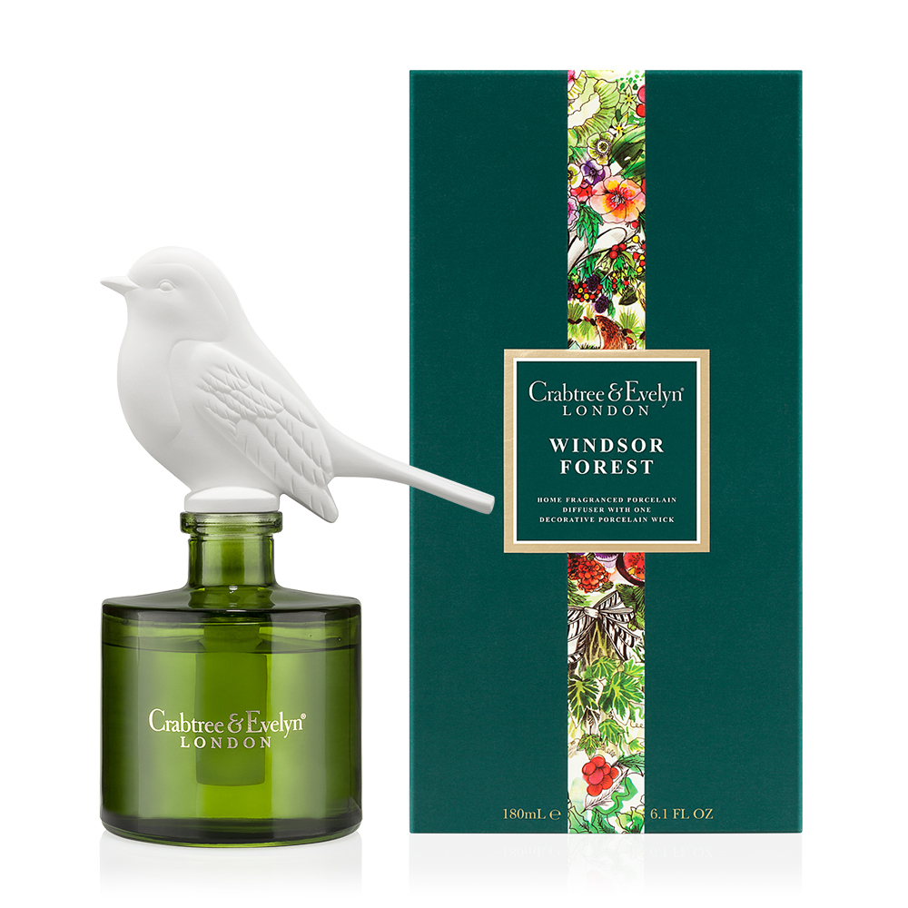windsor forest 180ml porcelain diffuser holiday collection by crabtree evelyn. Black Bedroom Furniture Sets. Home Design Ideas