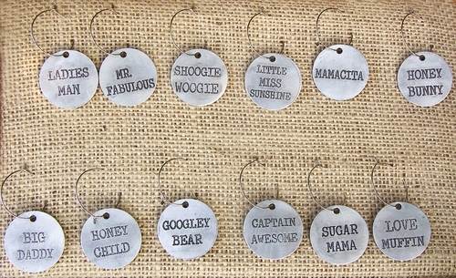 Wine Name Charms (Set of 12) by Sugarboo Designs