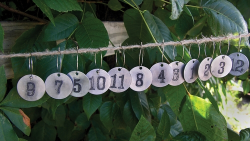 Wine Number Charms (Set of 12) by Sugarboo Designs