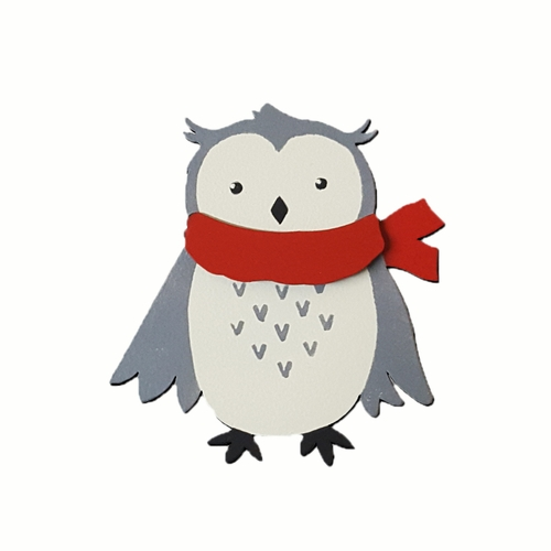Winter Owl with Scarf Magnet  - ROEDA HANDPAINTED ORIGINAL