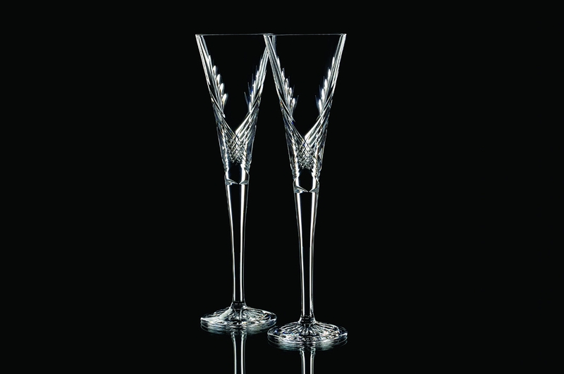 Wishes Beginnings Toasting Flute Pair By Waterford