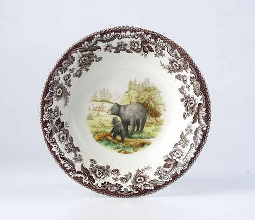 Woodland Black Bear Ascot Cereal Bowl by Spode