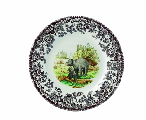 Woodland Black Bear Salad Plate by Spode