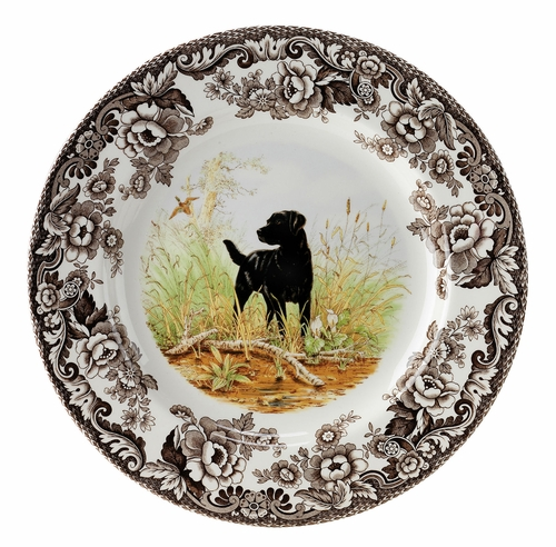 Woodland Black Labrador Retriever Dinner Plate by Spode