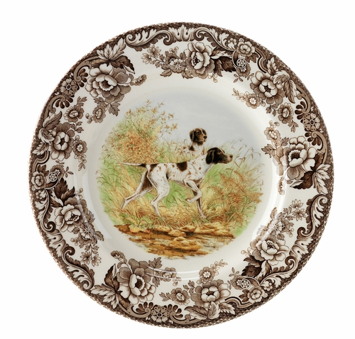 Woodland Flat Coated Pointer Salad Plate by Spode