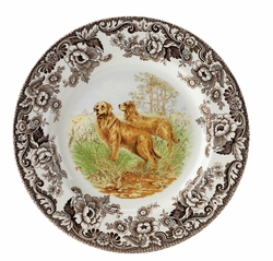 Woodland Golden Retriever Dinner Plate by Spode
