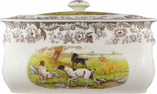 Woodland Hunting Dogs Bread Bin by Spode