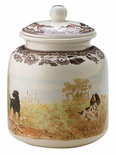 Woodland Hunting Dogs Dog Treat Canister by Spode