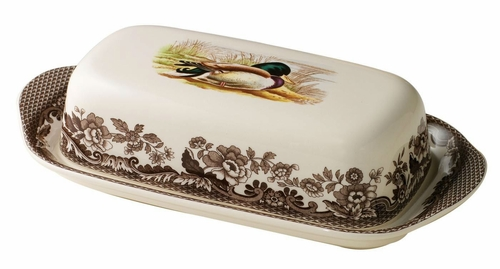 Woodland Mallard Covered Butter Dish by Spode