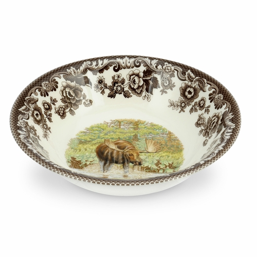 Woodland Moose Ascot Cereal Bowl by Spode