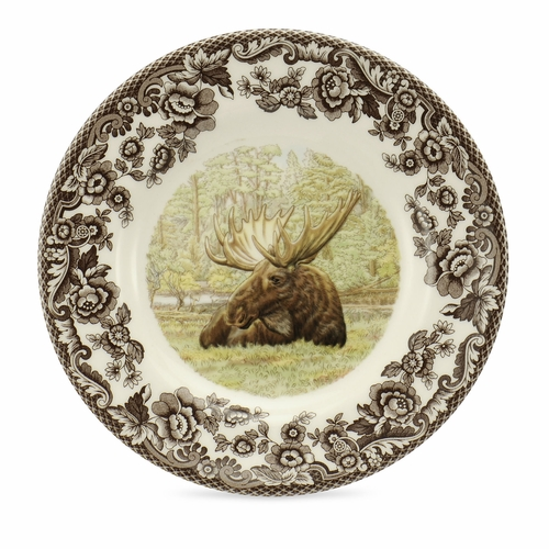 Woodland Moose Bread And Butter Plate by Spode