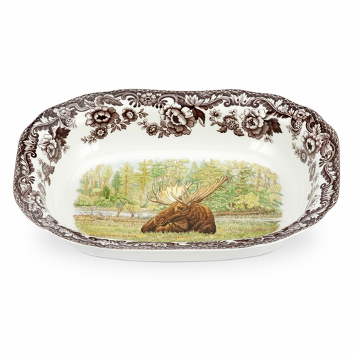 Woodland Moose Open Vegetable Dish by Spode