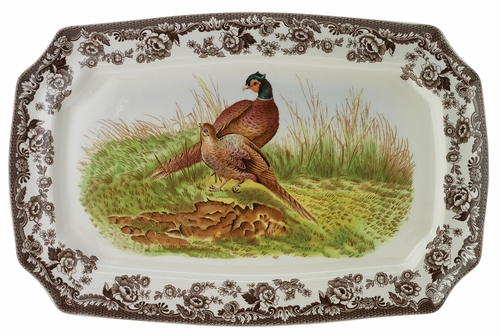 Woodland Pheasant Rectangular Platter by Spode