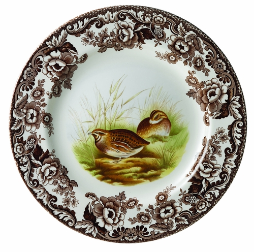 Woodland Quail Dinner Plate by Spode