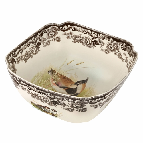 Woodland Quail/Lapwing Square Bowl by Spode