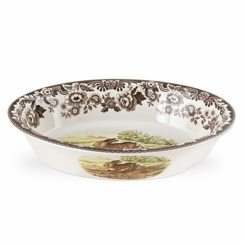 Woodland Rabbit/Pheasant Oval Rim Dish by Spode