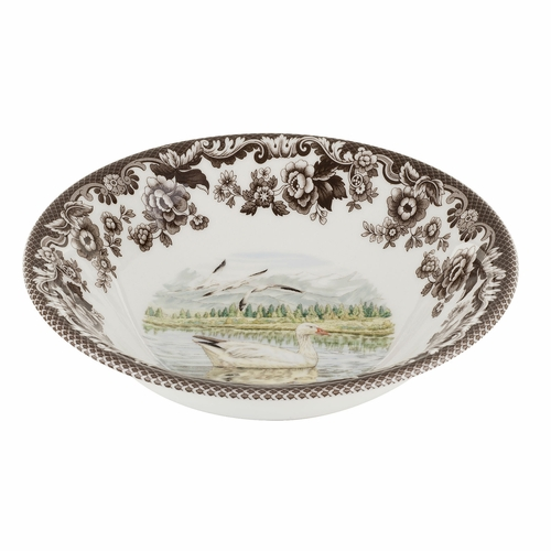 Woodland Snow Goose Ascot Cereal Bowl by Spode