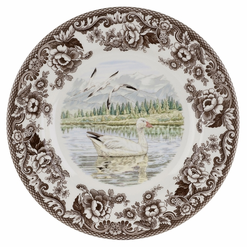 Woodland Snow Goose Dinner Plate by Spode