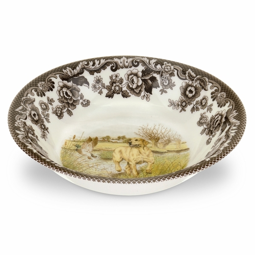 Woodland Yellow Labrador Retriever Ascot Cereal Bowl by Spode