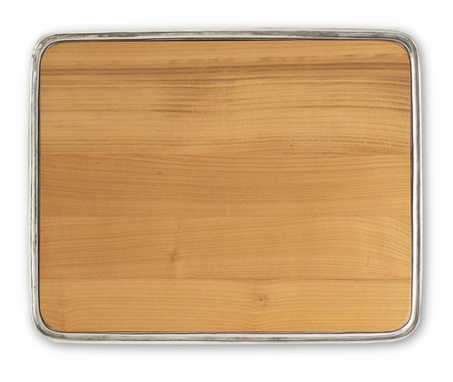 X-Large Cheese Tray with Wood Insert by Match Pewter