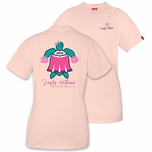 X-Large Save the Turtles Cheer Rose Short Sleeve Tee by Simply Southern