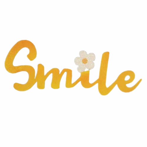 Yellow Smile With Flower Magnet - ROEDA HANDPAINTED ORIGINAL