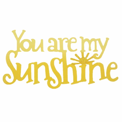 Yellow You Are My Sunshine Magnet - ROEDA HANDPAINTED ORIGINAL