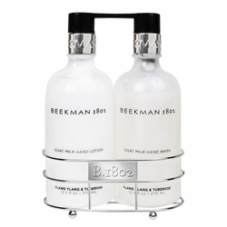 Ylang Ylang & Tuberose Hand Wash & Lotion Caddy Set by Beekman 1802